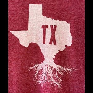 State of Mine Texas roots red t-shirt size medium